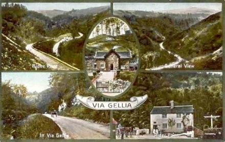 Postcard: Via Gellia, nr. Matlock Bath, Derbyshire. c.1906.